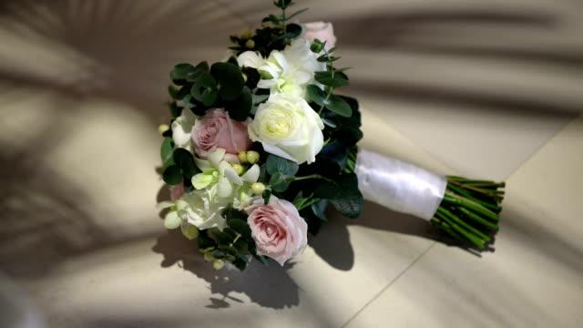 Beautiful wedding bouquet of fresh flowers.