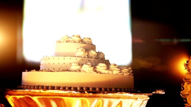 Beautiful wedding cake. video