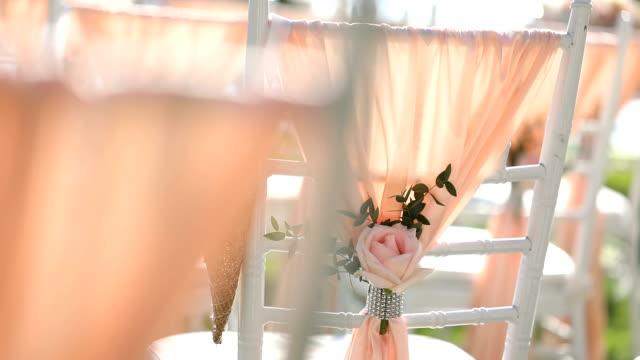 美しい結婚式が設定されました。 - 結婚式点の映像素材/bロール