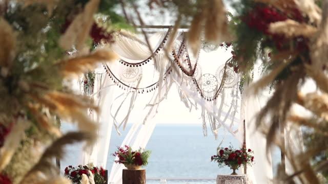美しい結婚式を設定します。 - プーケット点の映像素材/bロール