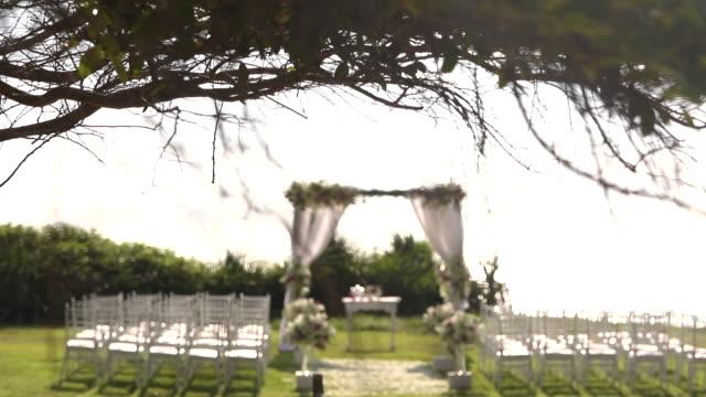 Beautiful wedding ceremony set up.