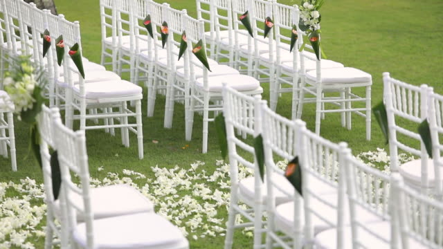 Beautiful wedding ceremony set up.
