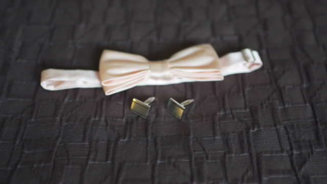 beautiful wedding cufflinks and butterfly video