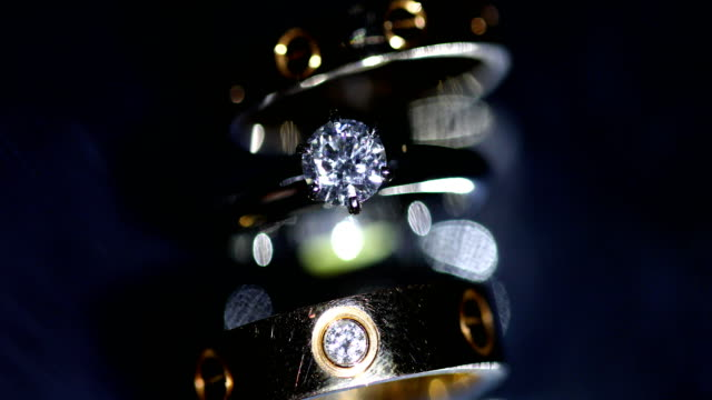 beautiful wedding ring and engagement ring, 4k. - wedding fashion stock videos and b-roll footage