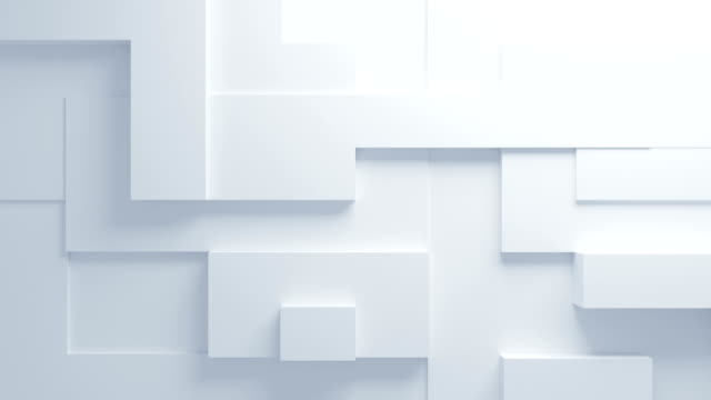 Beautiful White Figures Morphing in Seamless 3d Animation. Abstract Motion Design Background. Computer Generated Process. 4k UHD 3840x2160.