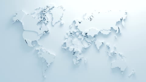 Beautiful White Global World Map of Surface Morphing in Seamless 3d Animation. Abstract Motion Design Background. Computer Generated Process. 4k UHD 3840x2160. Beautiful White Global World Map of Surface Morphing in Seamless 3d Animation. Abstract Motion Design Background. Computer Generated Process. 4k UHD 3840x2160. cartography stock videos & royalty-free footage