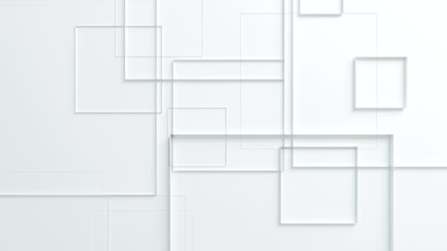 美しい白正方形のシームレスな 3 d アニメーションで表面移動。抽象的なモーション デザインの背景。コンピューターには、プロセスが生成されます。4 k uhd 3840 x 2160。 - ローポリモデリング点の映像素材/bロール