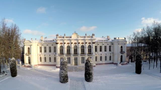 vídeos de stock e filmes b-roll de bela inverno em moscovo, rússia. - mansão imponente