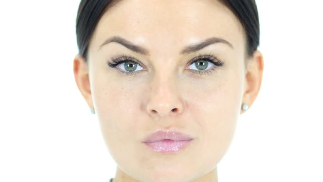 Beautiful Woman Face Close-Up video