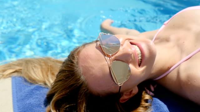 Beautiful woman & summer rest video