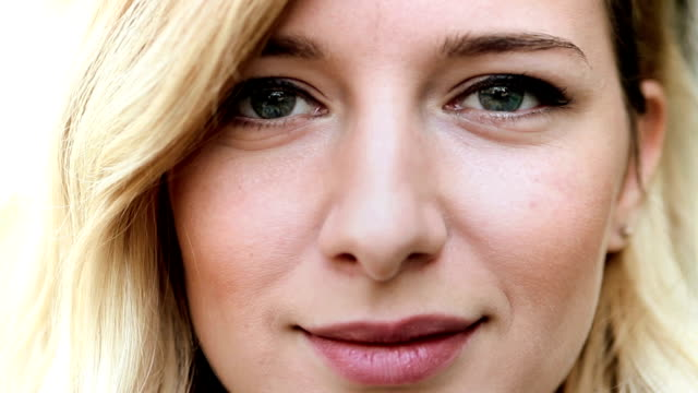 Beautiful woman's eyes video