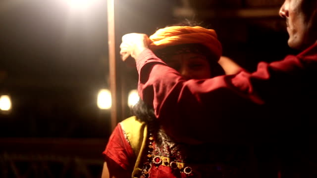 Beautiful women portrait at night video