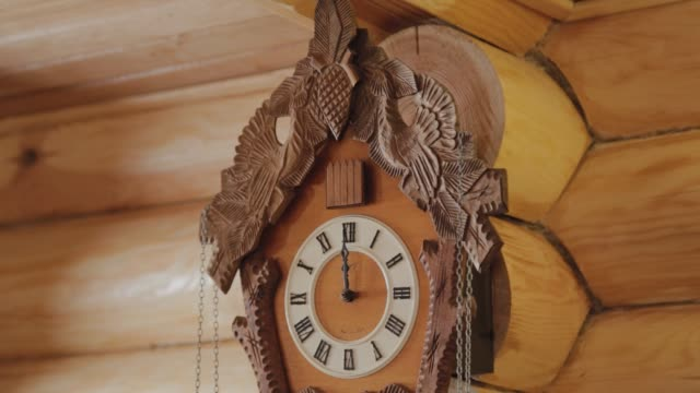 Beautiful wooden old wall clock Beautiful wooden old wall clock wall clock stock videos & royalty-free footage