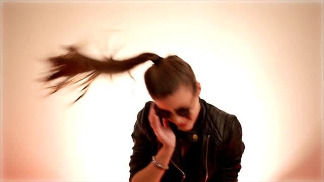 Beautiful young woman dancing video