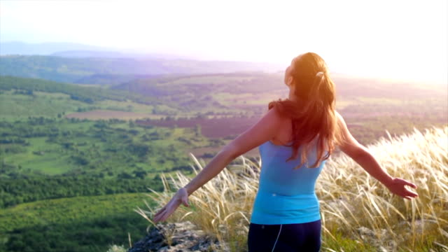 Beautiful Young Woman Runner Healthy Living in Nature Concept video