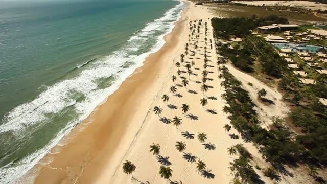 vídeos de stock, filmes e b-roll de belas tomadas aéreas de fortaleza, ceará, brasil - nordeste