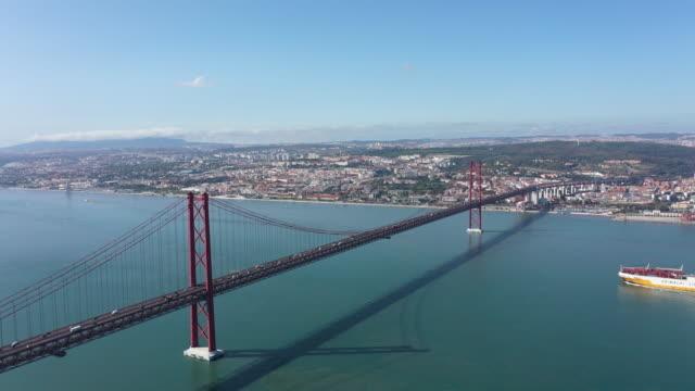 vídeos de stock e filmes b-roll de beauty of lisbon - ponte 25 de abril