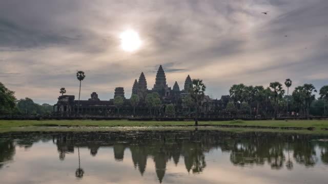 Beauty of sunrise at Angkor Wat video