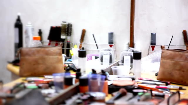 Beauty salon Makeup artist's working place lip liner stock videos & royalty-free footage