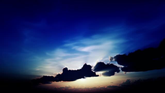 beautyfull blue sunset-sunrise video