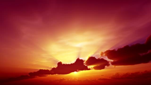 beautyfull romantic sunset-sunrise video