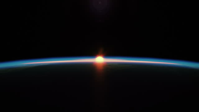 Beautyfull sunrise from space video