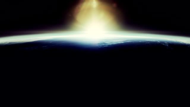 Beautyfull sunrise from space video
