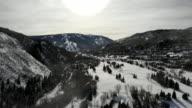 istock Beaver Creek Colorado Ski Area Aerial Drone Clip in the Winter 1198279033