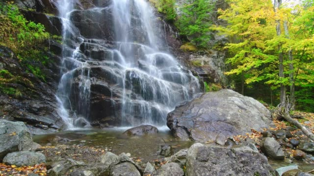 Beaver Meadow Falls in Adirondack Mountains New York State USA during Fall