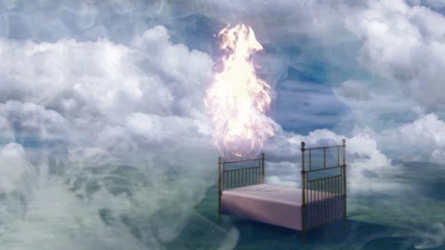säng i fantasy landskap - himlen bildbanksvideor och videomaterial från bakom kulisserna