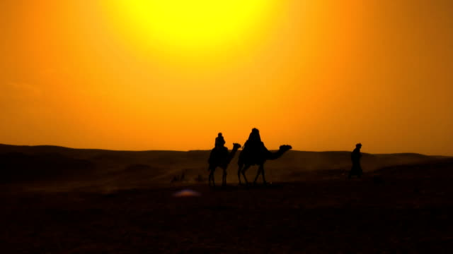 Bedouins at the desert Bedouins walking at the desert minority groups stock videos & royalty-free footage