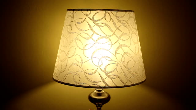 Bedside lamp Bedside lamp lamp shade stock videos & royalty-free footage