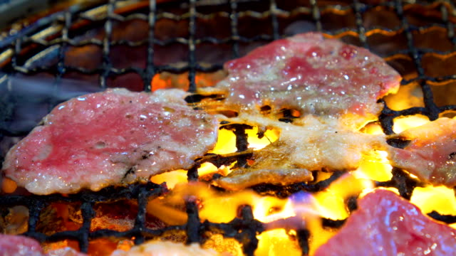 쇠고기 바베 큐 그릴 - 척 드릴 부속품 스톡 비디오 및 b-롤 화면