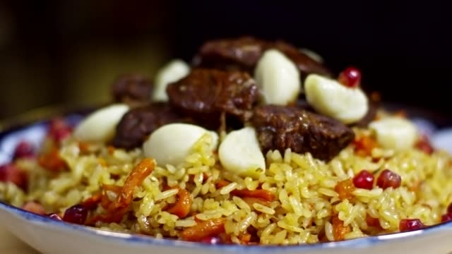 Beef Pilaf with Pomegranate Seeds video