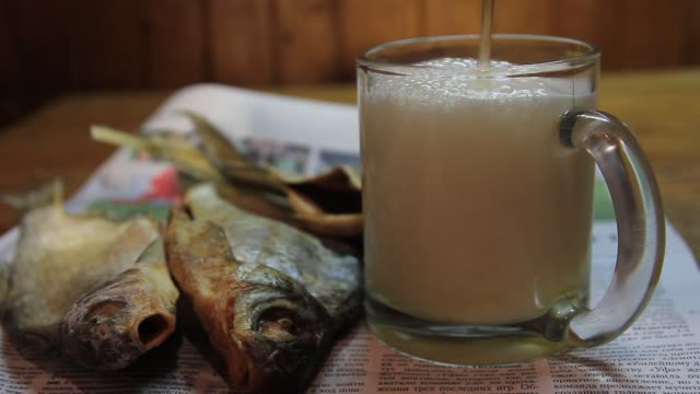 Beer and dried fish video