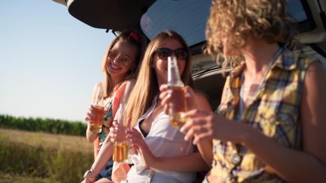 ビールと夏は私たちを幸せにする - 楽しい点の映像素材/bロール