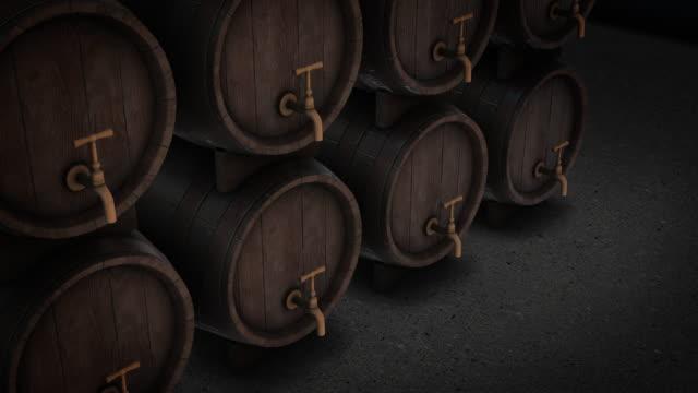 vídeos de stock, filmes e b-roll de rotação da vista superior do tambor de cerveja - vinho do porto