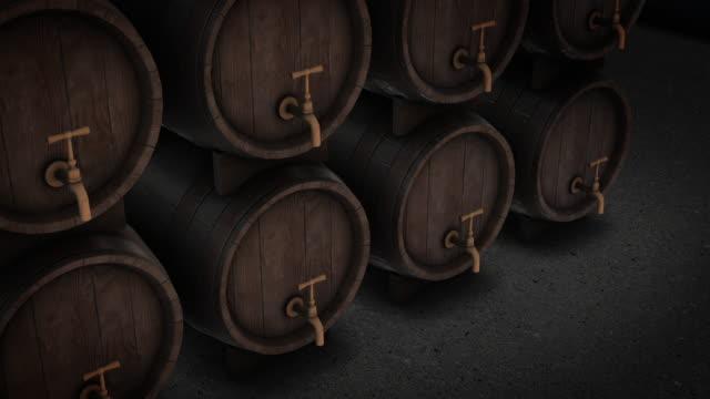 vídeos de stock, filmes e b-roll de opinião superior do tambor de cerveja - vinho do porto