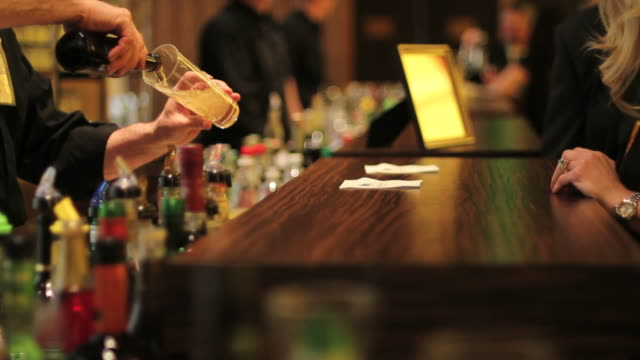 Beer, bartender, bar, drink, party, alcohol Beer, bartender, bar, drink, party, alcohol bar counter stock videos & royalty-free footage