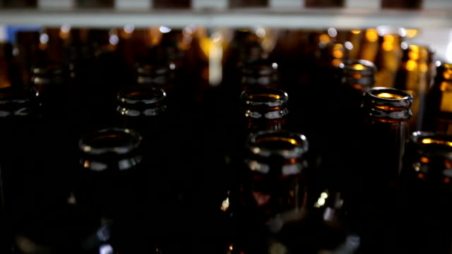 Beer bottles panorama video