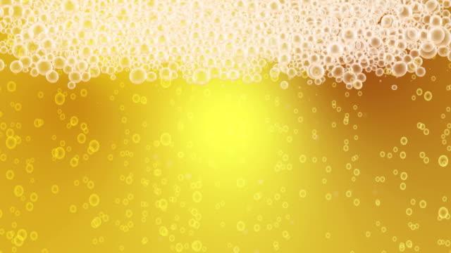 Beer Bubbles Background Loop video