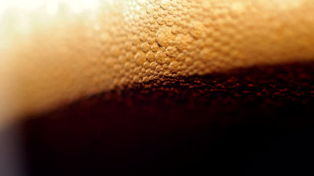 Beer bubbles video