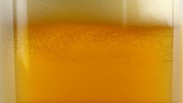 Beer Fills Up Glass Closeup video