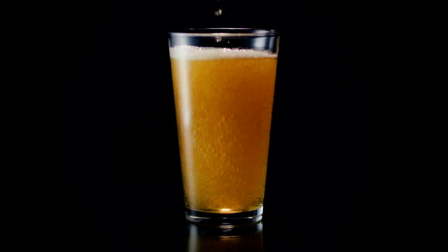 Beer Glass Pour Wide video