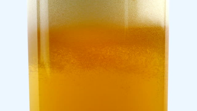 Beer Pours Into Glass And Froths video