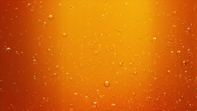 Beer with bubbles. Loopable, Alpha matte. video