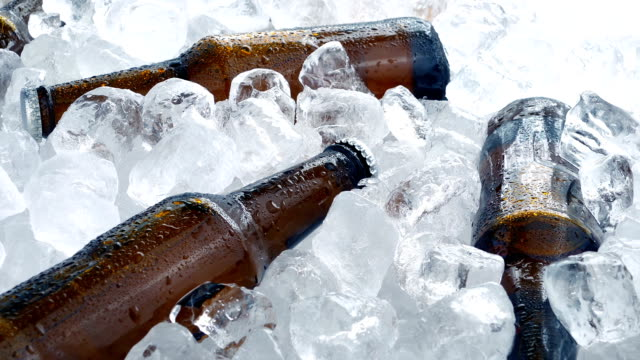 Beers In Ice Cubes Rotating video
