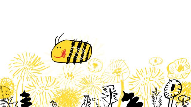 bina flyger över fält av blommor - pollinering bildbanksvideor och videomaterial från bakom kulisserna