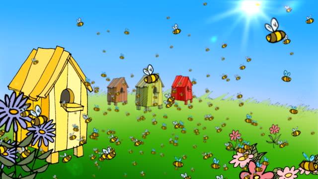 bees working in the hive - pollinering bildbanksvideor och videomaterial från bakom kulisserna