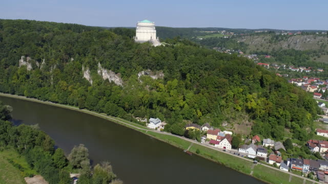 Befreiungshalle (Hall of Liberation) at Kelheim in Bavaria video